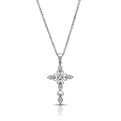 Decorative Cross Pendant Necklace