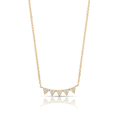 Diamond Studded Buntings Necklace