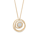 Organic Gold Scribble Pendant Necklace with Diamonds