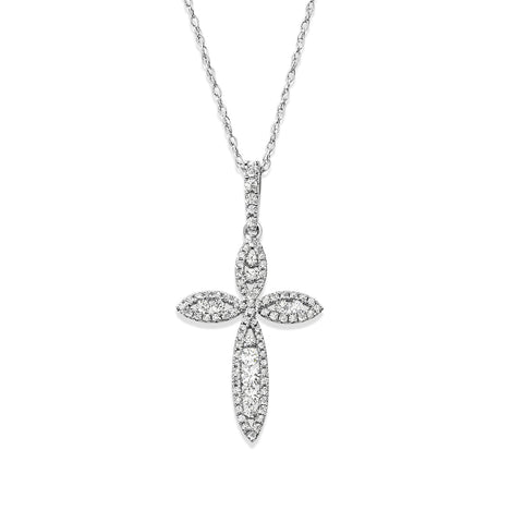 Diamond Studded Cross Pendant