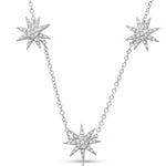 Starburst Diamond Necklace on Rolo Chain