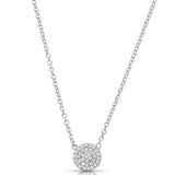 Classic Diamond Cluster Necklace
