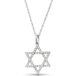 Diamond studded Star of David Pendant & chain