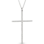Diamond & White Gold Religious Cross Pendant
