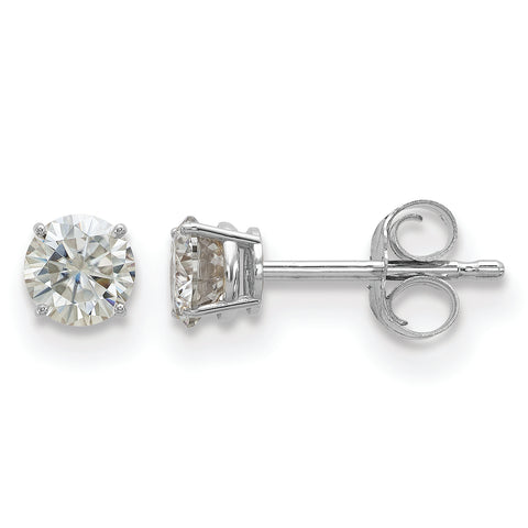 Four Prong Class Moissanite Stud Earrings (in Yellow or White Gold)