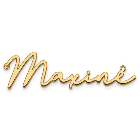 Personalized Cursive Name Necklace in 10KT Gold (Yellow & White)