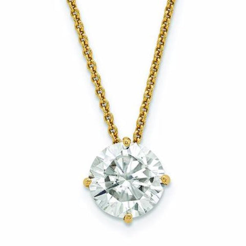 Four prong Classic Moissanite Pendant