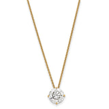 1.00 carat, 6.5MM 4-prong Round Moissanite Solitaire Slide Necklace