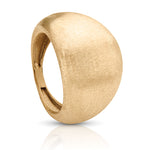 Italian Inspired Yellow Gold Ring with Matte Finish