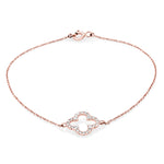 Four Leaf Clover Diamond Bracelet