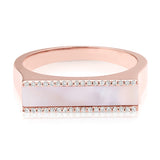 Pink Pearl & Diamond Bar Ring