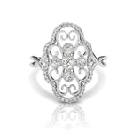 Diamond Clover Vintage Ring