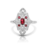 Diamond & Ruby Vintage Ring