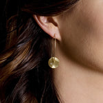 Yellow Gold Asymmetrical Diamond Earrings
