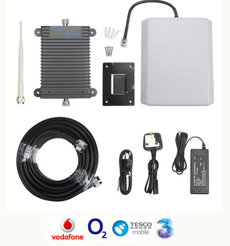 3G Signal Booster - 900/2100MHz - 1,000 SQM - 75 Users