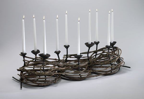 "Nested Twigs Candleholder- 36""l"