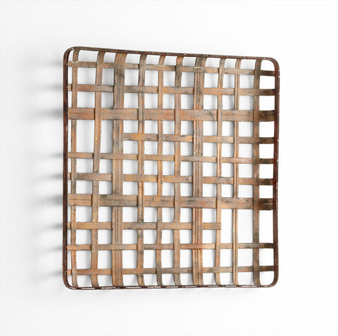 Basket Weave Wall Sculpture- 31.5x31.5
