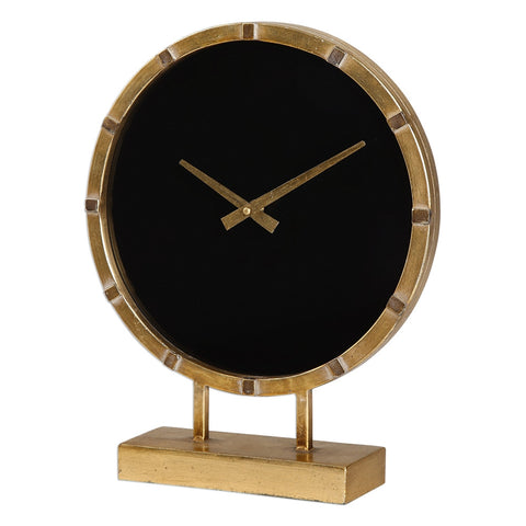 Aldo Table Clock - Gold