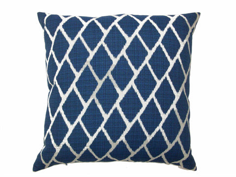 Blue Diamond Down Pillow- 24x24 - Set of 2