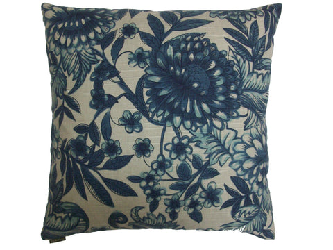 Blue China Down Pillow- 24x24 - Set of 2