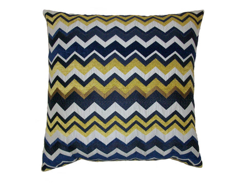 Blue ZigZag Down Pillow - 24x24 - Set of 2