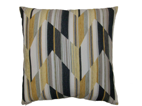 Chevron Stripes Yellow Down Pillow- 24x24 - Set of 2