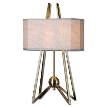 "Clipped Bronze Table Lamp- 29""h"