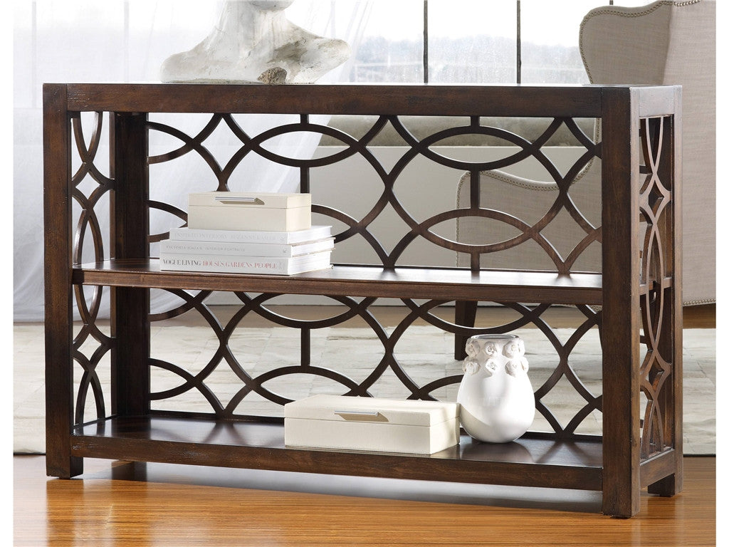 Criss-Cross Shelving Console