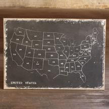 USA Chalkboard Artwork- 48x32