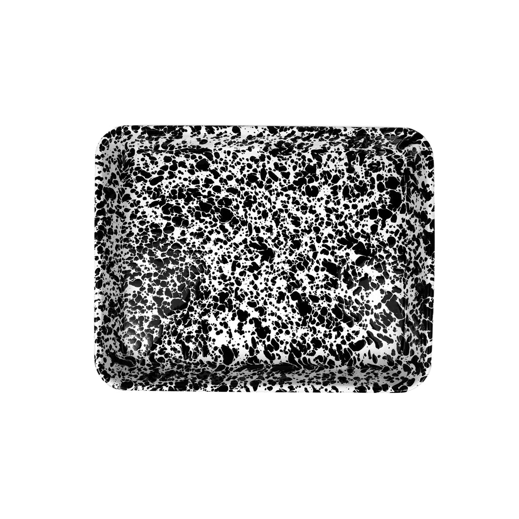 Splatter Small Rectangle Tray - 11.25 x 9 inch