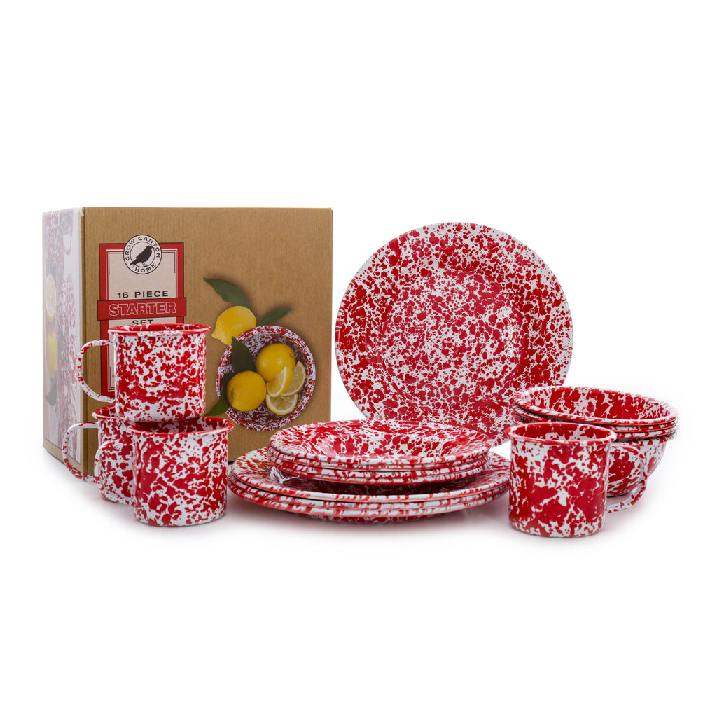 Splatter 16 piece Dinnerware Starter Set