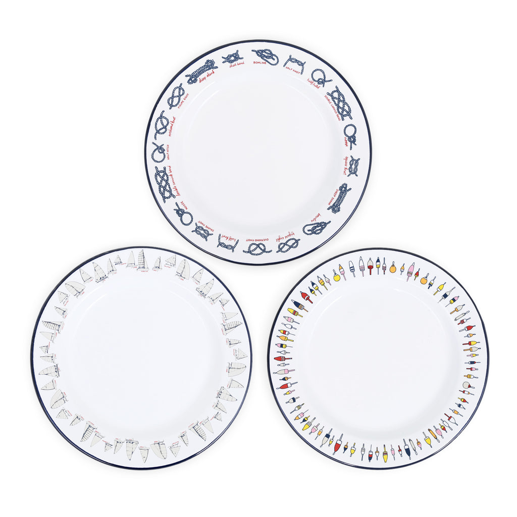 Fishs Eddy x CCH Flat Salad Plate Sampler Set - 6 piece