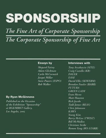 RYAN MCCGINNES: SPONSORSHIP BOOK