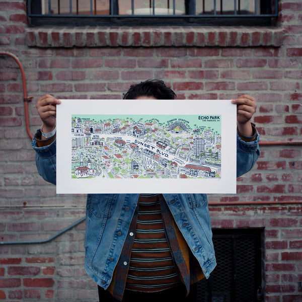Echo Park Bridge Print