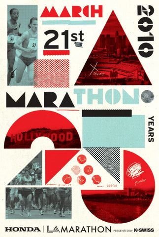 Cleon Peterson: LA Marathon Print