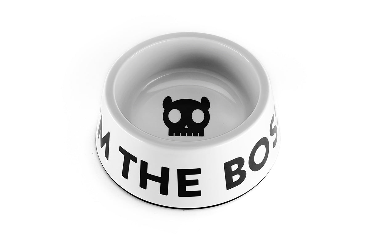 dog-bowl-white-im-the-boss-zeedog-pet-info-image