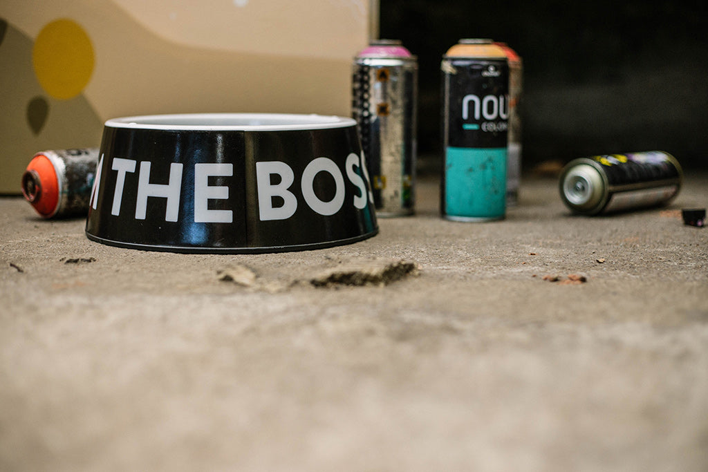 The Boss Black Dog Bowl | Zee.Dog