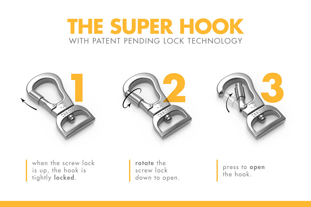 Hook with lock feature | Zee.Dog