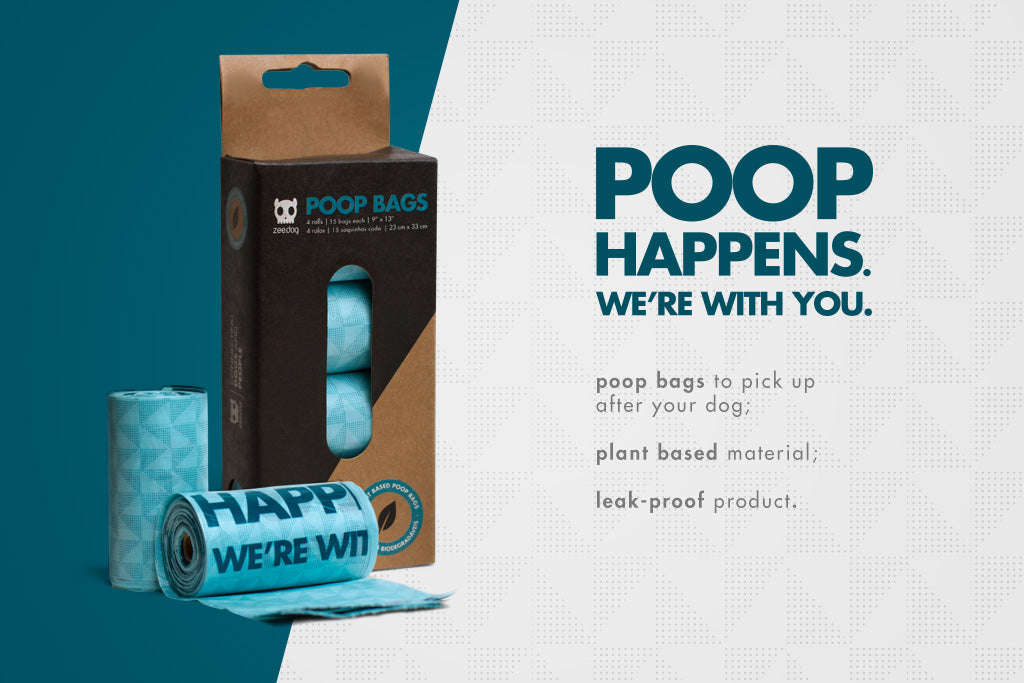 Blue Plant Based Dog Poop Bags | Zee.Dog
