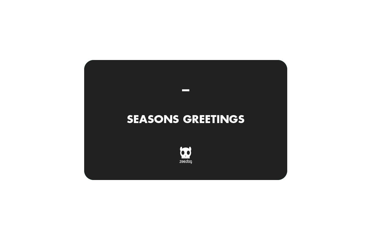Season's Greetings (Black) | Celebration Gift Card