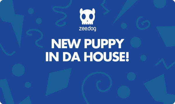 New Puppy - Blue | Celebration Gift Card
