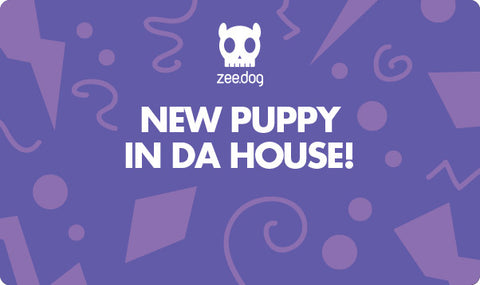 New Puppy - Purple | Celebration Gift Card