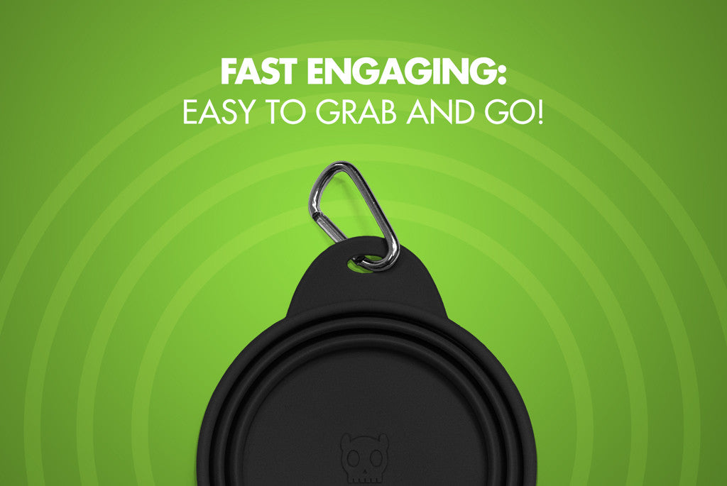 Black Go Bowl - Fast Engaging | Zee.Dog