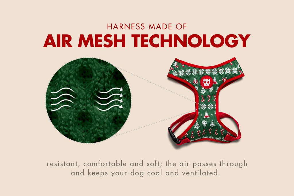 Rudolph | Dog Mesh Plus Harness | Christmas Limited Edition | Air Mesh Technology