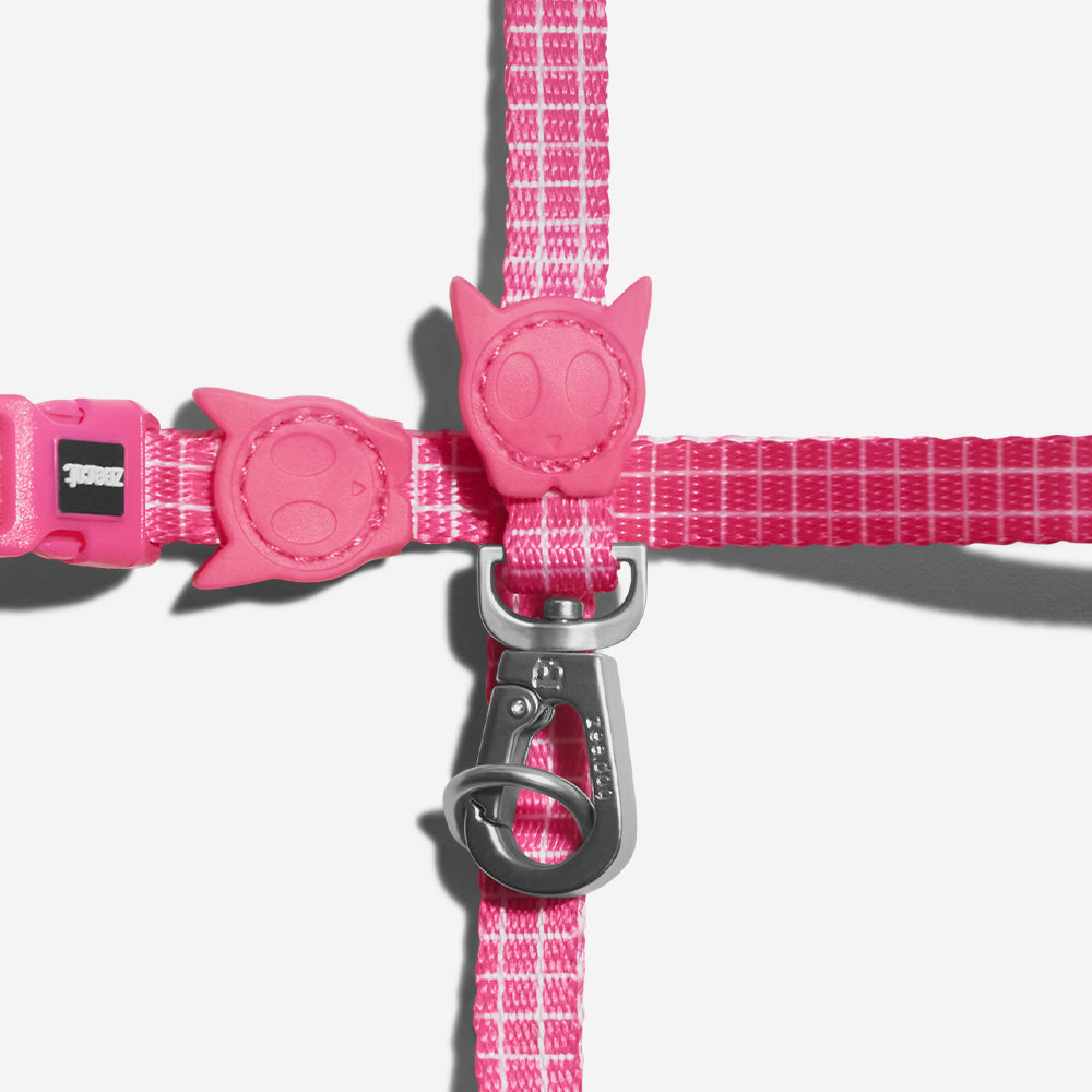 Pink Wave | Cat Harness with Leash