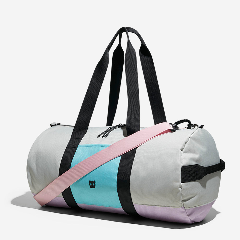 Grey / Purple | Classic Duffle Bag
