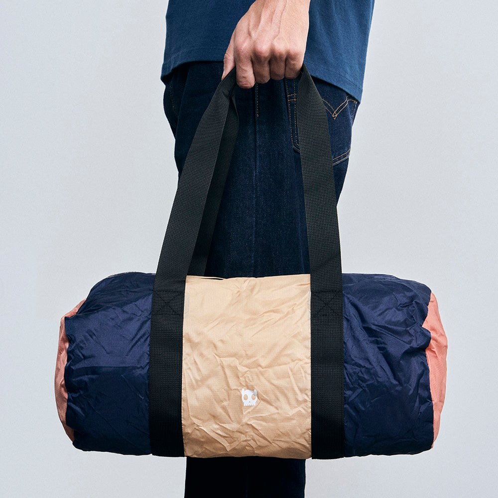 Sand / Blue / Orange | Packable Duffle Bag
