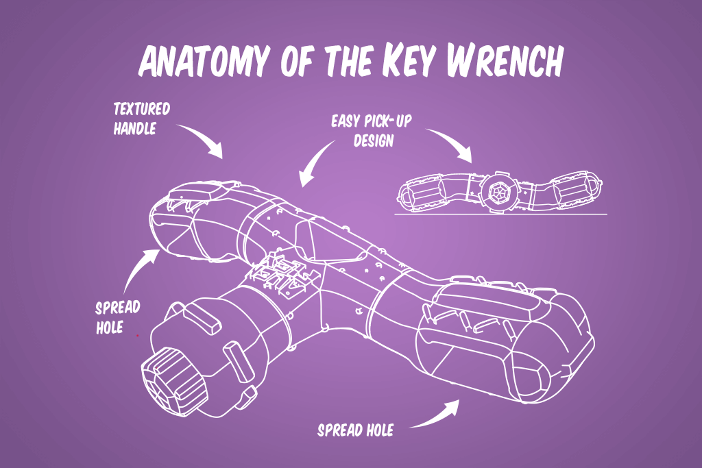 Alien Flex Key Wrench Dog Toy - Feature | Alien Flex
