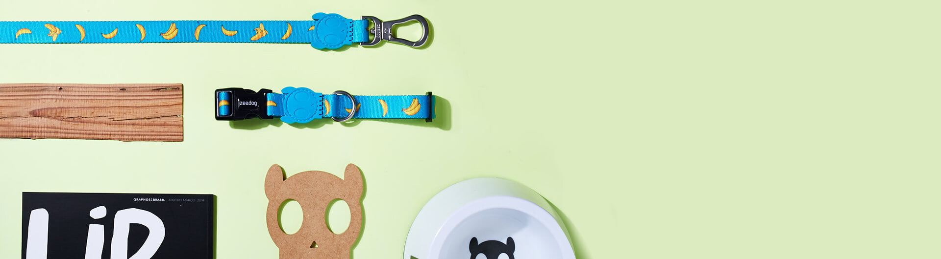 Banana Shake collar | Zee.Dog