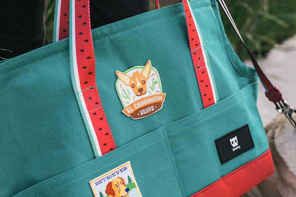 El Chihuahua Squad Dog Patch applyed on dog carrier | Zee.Dog